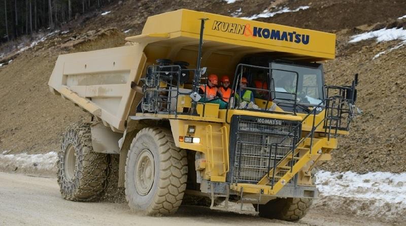 Biel Svizzera camion elettrico più grande del mondo Komatsu Kuhn