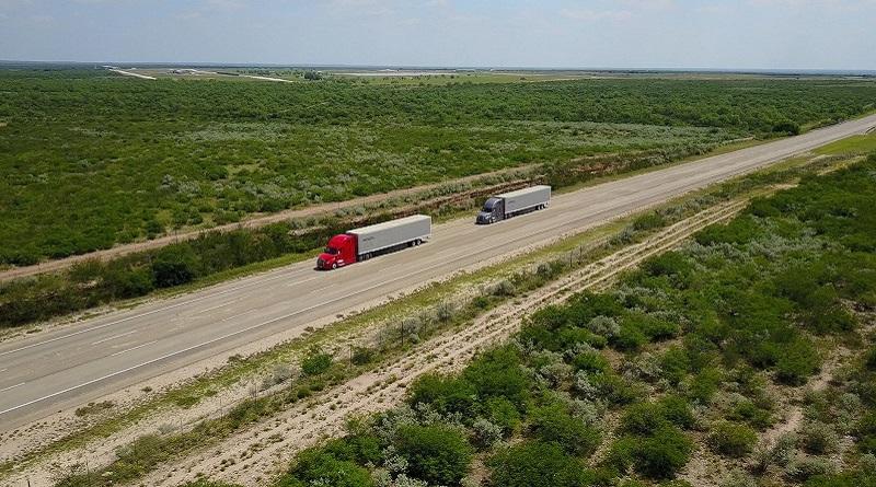 test di platooning in America Freightliner Daimler