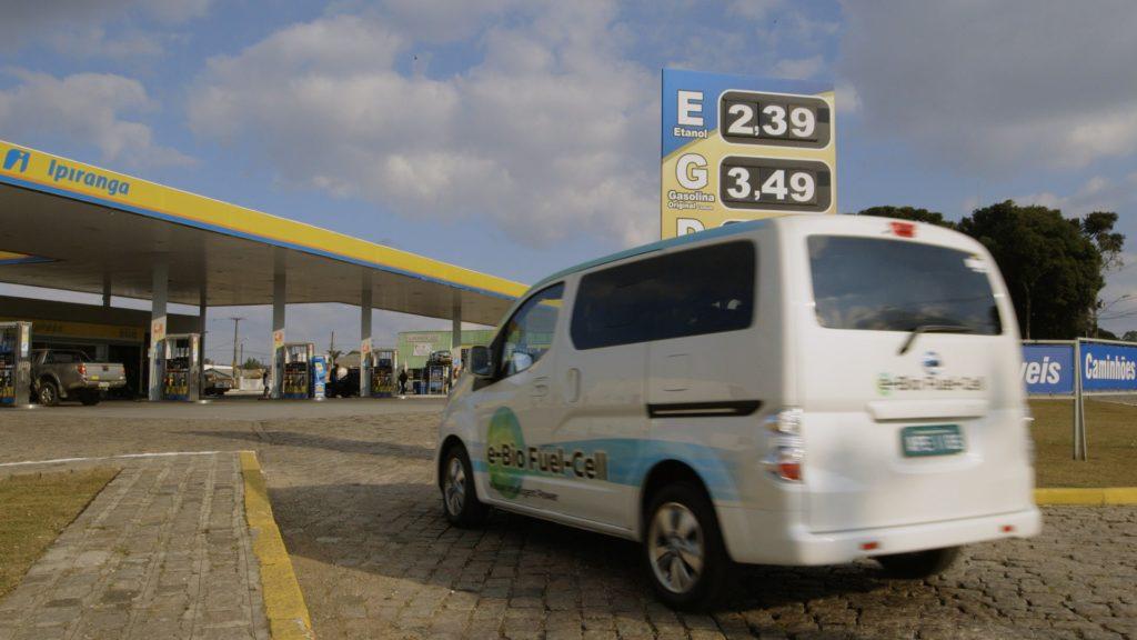 Nissan SOFC fuel cell bio-etanolo