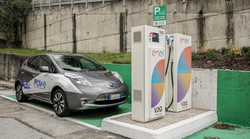 IIT Genova V2G Nissan Leaf Enel Energia