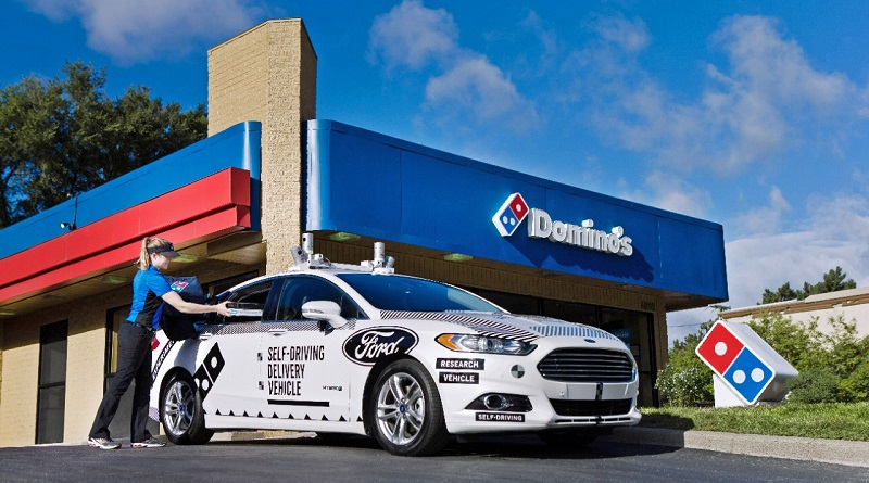 Ford autonome consegnano pizze Domino's
