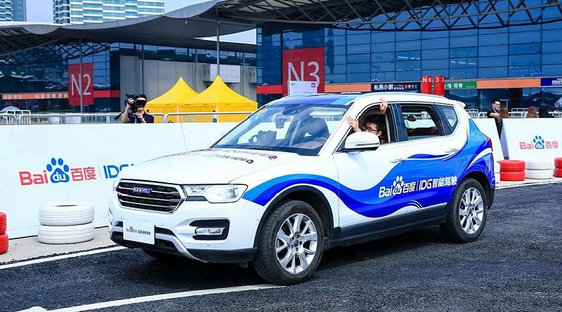 auto a guida autonoma di Baidu e JAC