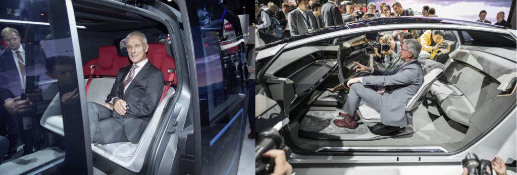 Francoforte interni concept Audi e Volkswagen