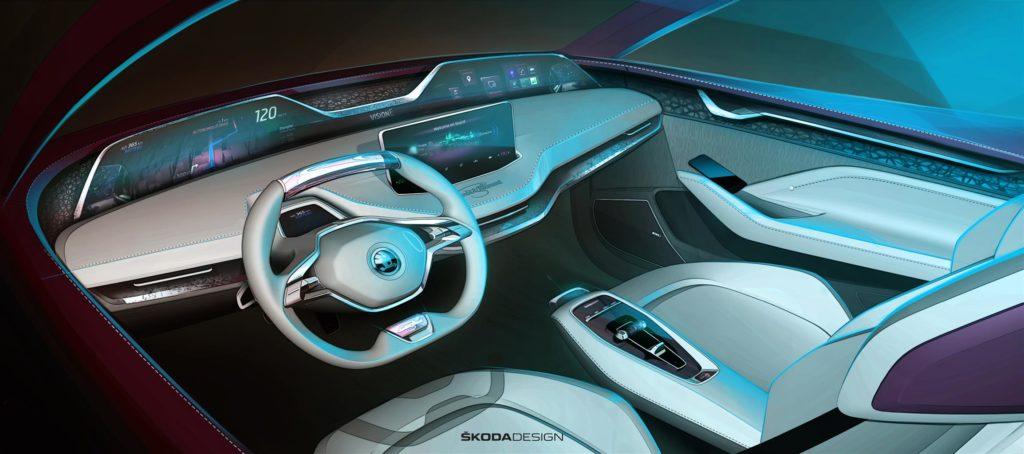 interni concept Skoda Vision E salone di Francoforte