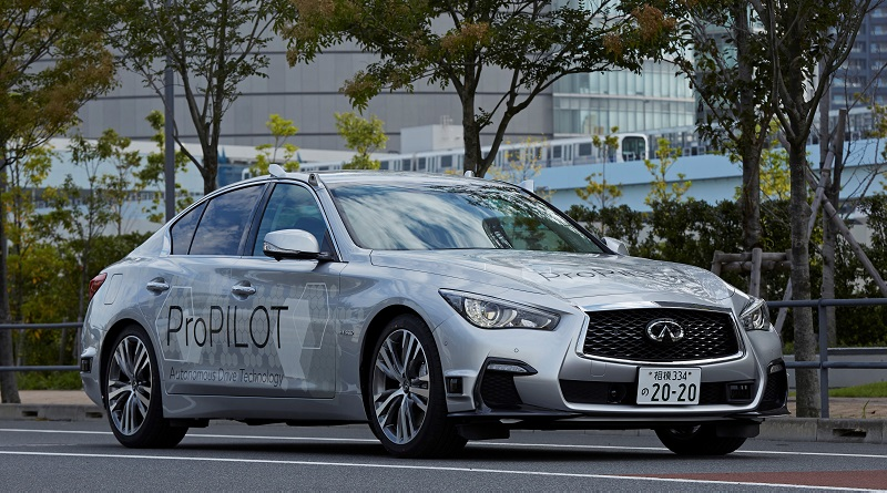 sistema di guida autonoma Nissan a Tokyo