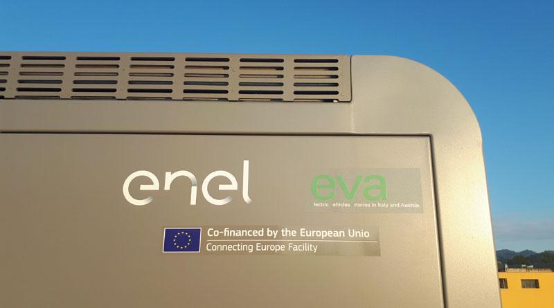 rete di ricarica EVA+ ENEL autostrade