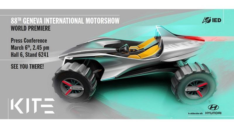 L'Istituto Europeo di Design di Torino a Ginevra col buggy elettrico Hyundai Kite