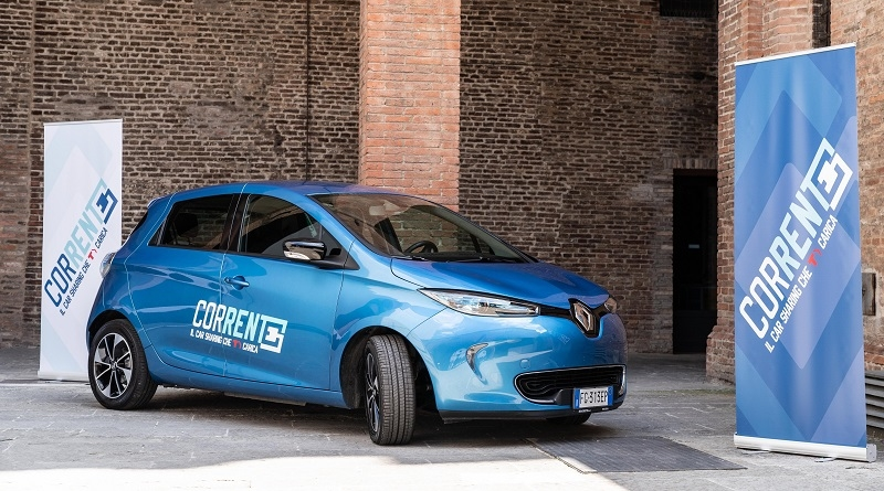 """Dall'autunno a Bologna in arrivo le Zoe del """"car sharing""""elettrico Corrente"""