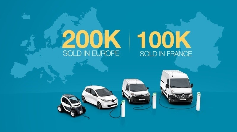 Raggiunta la vetta dei 200.000 veicoli elettrici venduti in Europa Renault si attrezza per raddoppiare