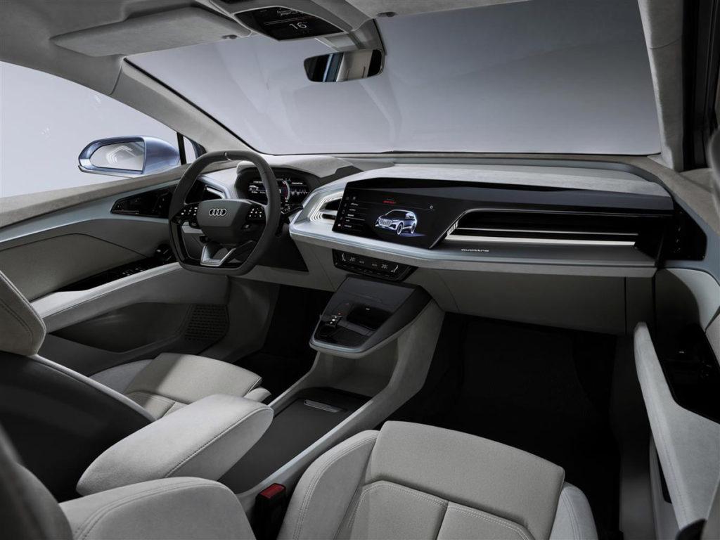 Audi svela al Salone di Ginevra il suo SUV elettrico entry-level: Q4 E-tron 1