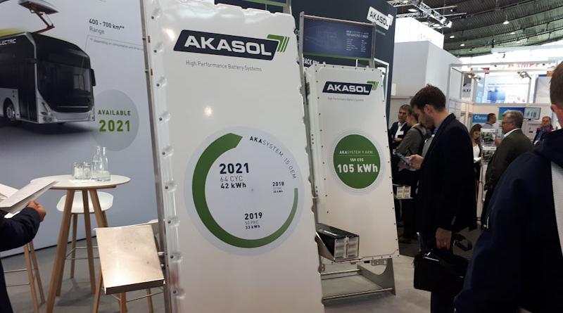 A Stoccarda Akasol ha presentato la rinnovata gamma di batterie per autobus e camion