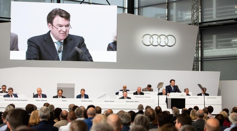 All'assemblea generale Audi svela un obiettivo più ambizioso per la quota di elettriche