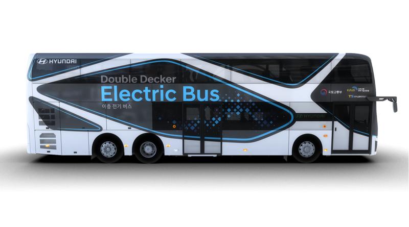 """Anche Hyundai entra nel mercato degli autobus elettrici e parte raddoppiando con un """"double-decker"""""""