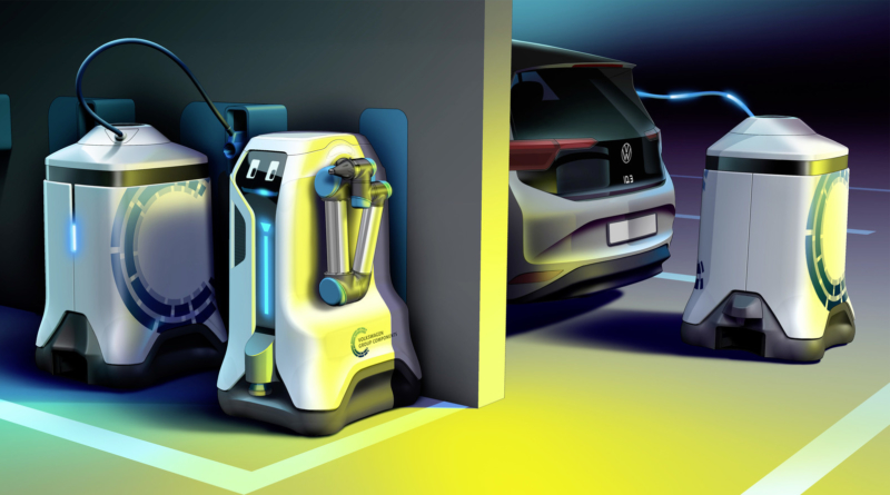 Nuovo robot Volkswagen per la ricarica per rispondere ai futuri picchi di domanda