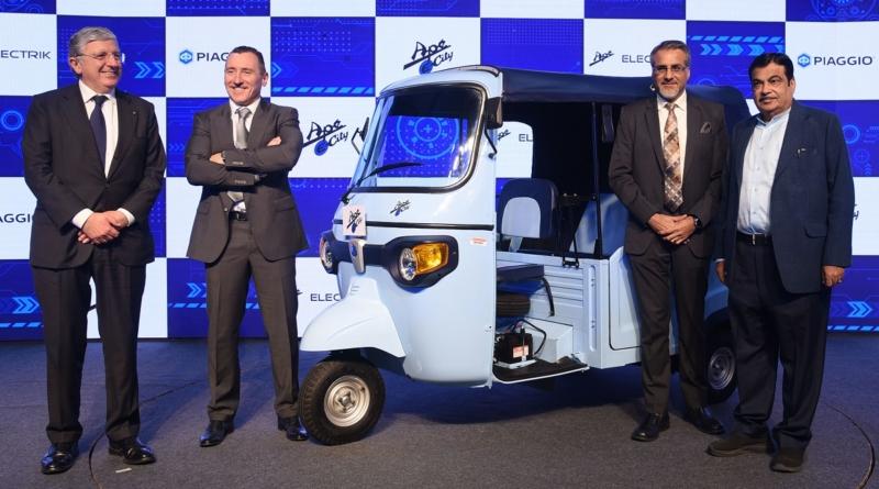 Piaggio entra nel mercato dei veicoli commerciali elettrici in India col nuovo Ape E-City