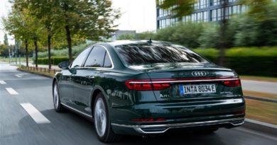 Una dote di 45 km d'autonomia solo elettrica per l'ammiraglia Audi
